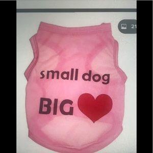 Pink dog shirt with free collar charm